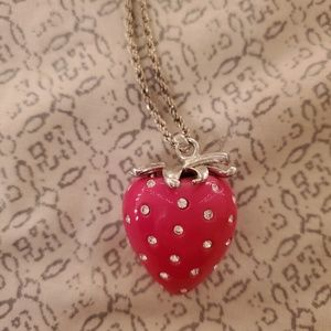 Strawberry pendant necklace
